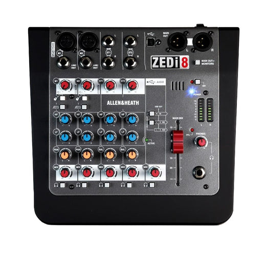 Allen & Heath ZEDi 8 8-Channel Live + USB Recording Mixer