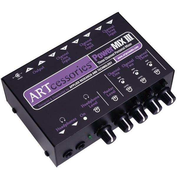 ART PowerMIX III Three Channel Personal Stereo Analog Mixer