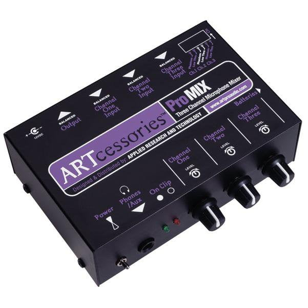 ART ProMIX Three Channel Microphone Mono Analog Mixer
