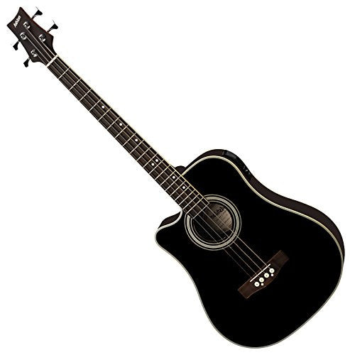 Ashton ACB100CEQLBK Left-Handed Acoustic Bass Guitar