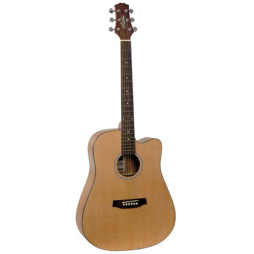 Ashton D20C NTM Dreadnought Cutaway Acoustic Guitar with Bag - Natural Matte