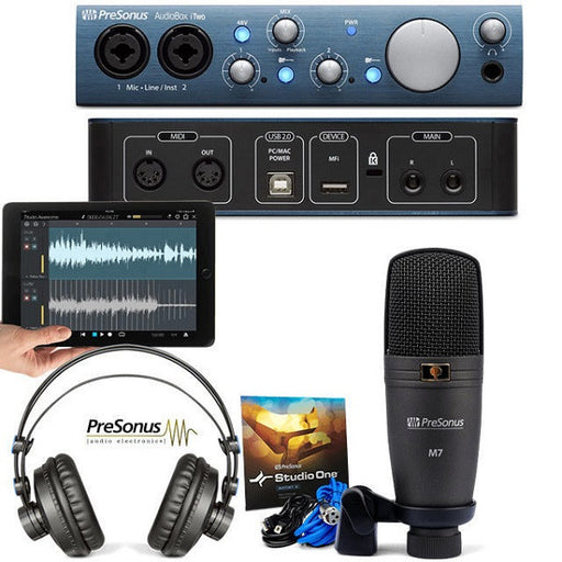 PreSonus AudioBox iTwo Studio Audio Interface Bundle -Open Box