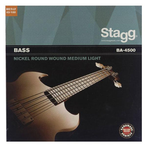 Stagg Medium Light Nickel Round Wound 4 String Bass Guitar Strings