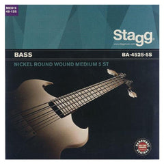 Stagg Light Nickel Round Wound 5 String Bass Guitar Strings