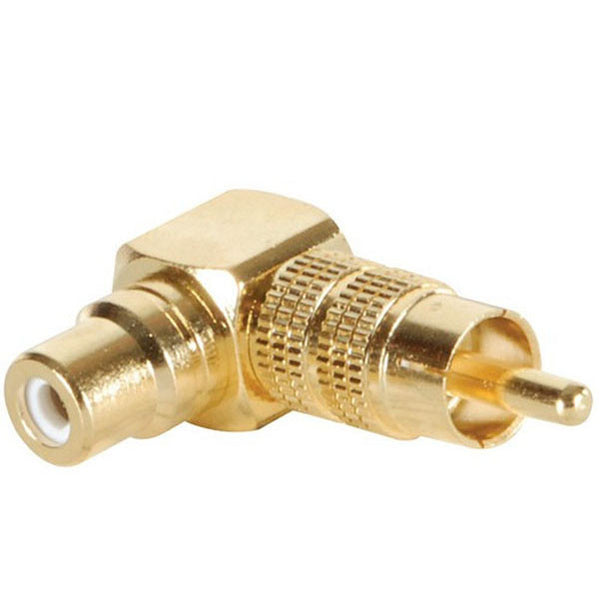 BAJAAO Gold RCA Right Angle Adapter Long