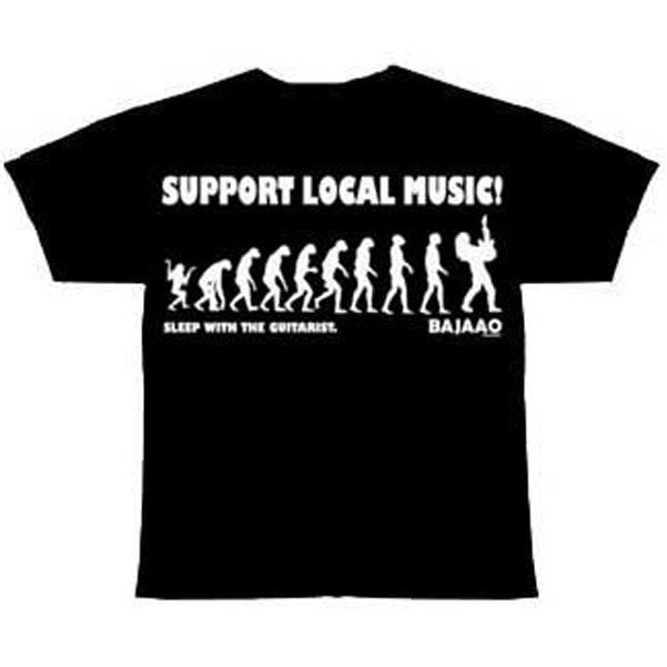 "BAJAAO ""Support Local Music...Sleep with the Guitarist"" Tshirt"