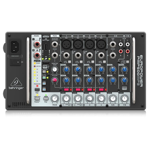 Behringer Europower PMP500MP3 500-Watt 8-Channel Powered Mixer