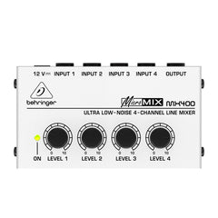 Behringer MX400 Ultra Low Noise 4-Channel Line Mixer -Open Box