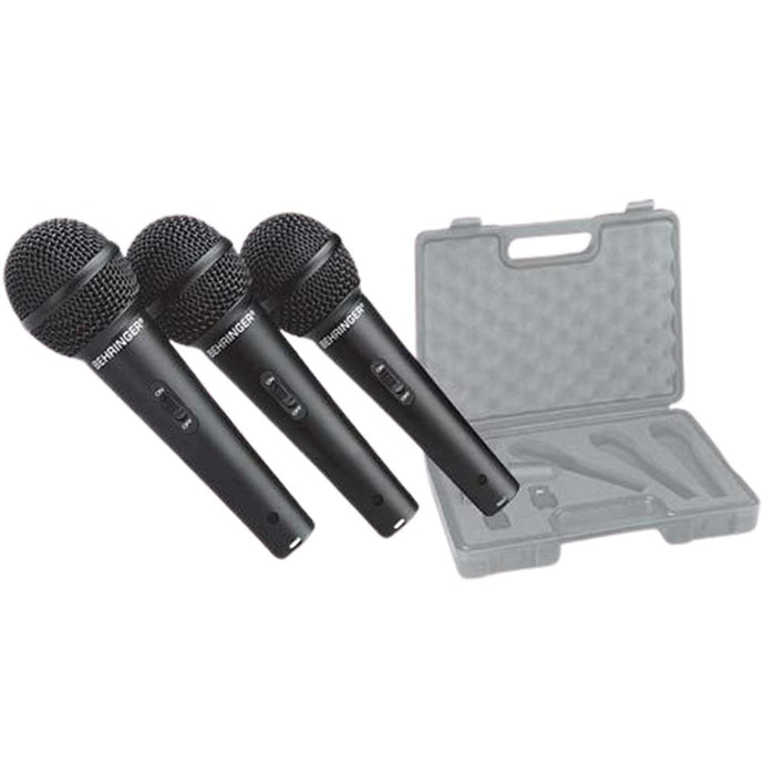 Behringer ULTRAVOICE XM1800S Set of 3 Dynamic Microphones