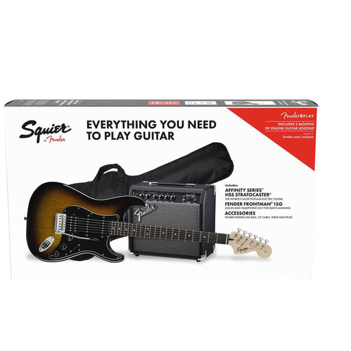 Fender Squier Affinity Series 6 String Stratocaster HSS Electric Guitar Pack With Gigbag & Amplifier