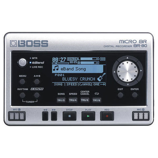 Boss Micro BR, BR-80 Digital Pocket 8 Track Recorder