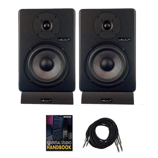 Vault C6 6-Inch Powered Studio Monitors with Isolation Pads, Cables, and Ebook  - Pair