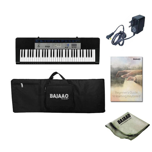 Casio CTK 1550 61 Key Standard Portable Keyboard With Power Adapter, Gigbag, Cloth & Ebook