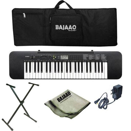 Casio CTK245 Musical Keyboard with Stand, Gigbag, Polishing Cloth and Power Adapter