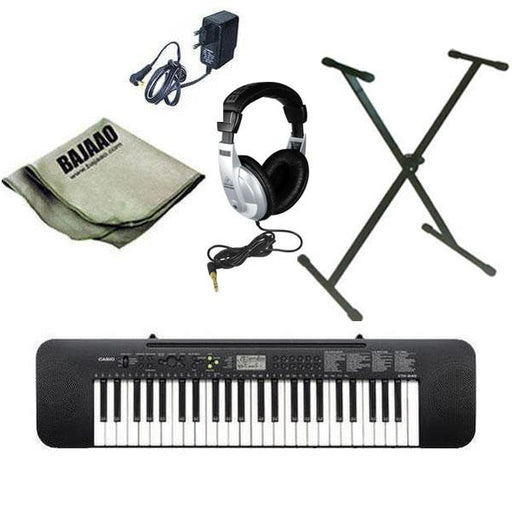 Casio CTK245 Musical Keyboard with Stand, Headphones, Polishing Cloth and Power Adapter