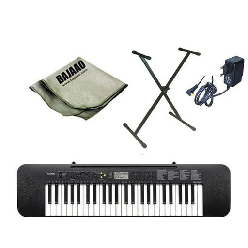 Casio CTK245 Musical Keyboard with Stand, Polishing Cloth and Power Adapter