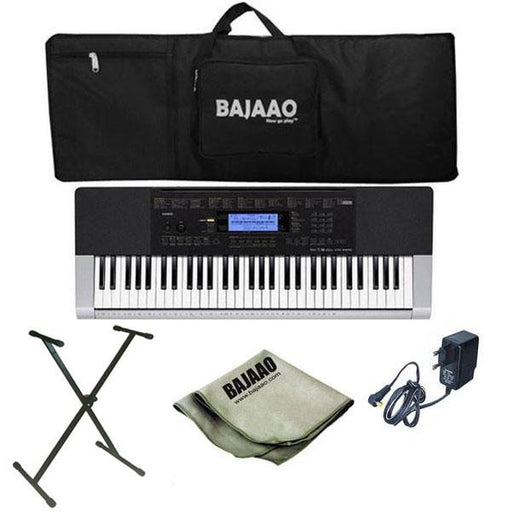 Casio CTK-4400 Portable Keyboard with Stand, Gigbag, Polishing Cloth and Power Adapter
