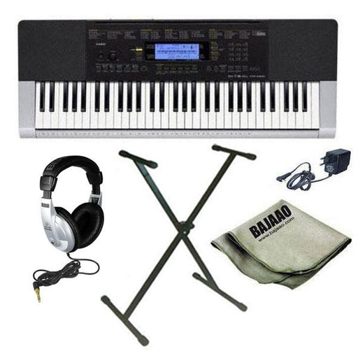 Casio CTK-4400 Portable Keyboard with Stand, Headphones, Polishing Cloth and Power Adapter