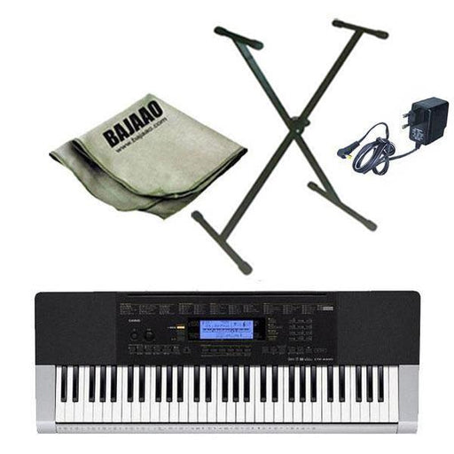 Casio CTK-4400 Portable Keyboard with Stand, Polishing Cloth and Power Adapter