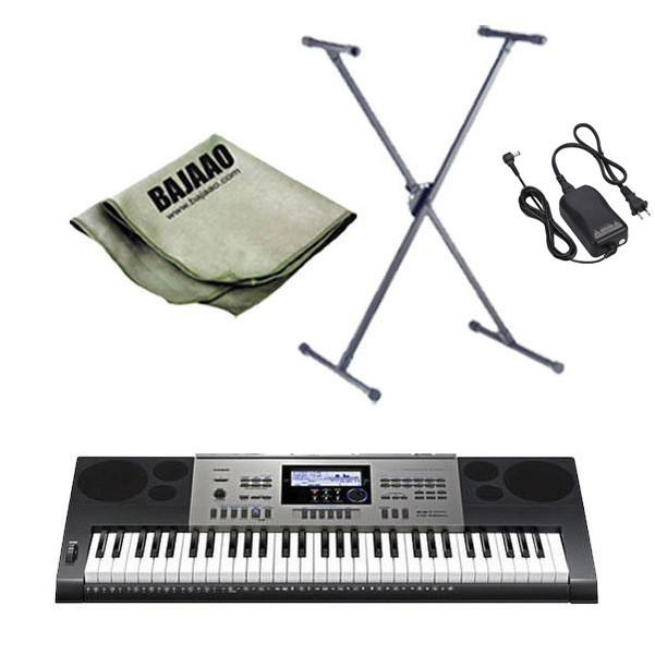 Casio CTK-6300IN Keyboard with Stand, Polishing Cloth and Power Adapter