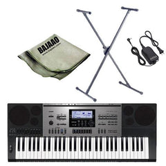 Casio CTK-7300IN Localized MIDI Keyboard with Stand, Polishing Cloth and Power Adapter
