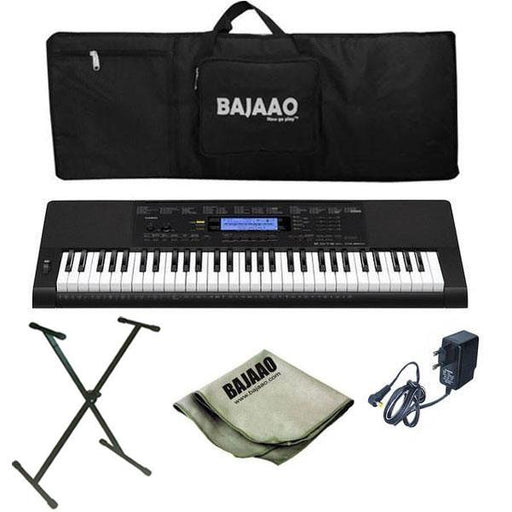 Casio CTK-860IN Arranger Keyboard with Stand, Gigbag, Polishing Cloth and Power Adapter