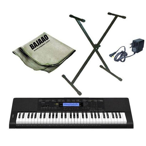 Casio CTK-860IN Arranger Keyboard With Stand, Polishing Cloth and Power Adapter