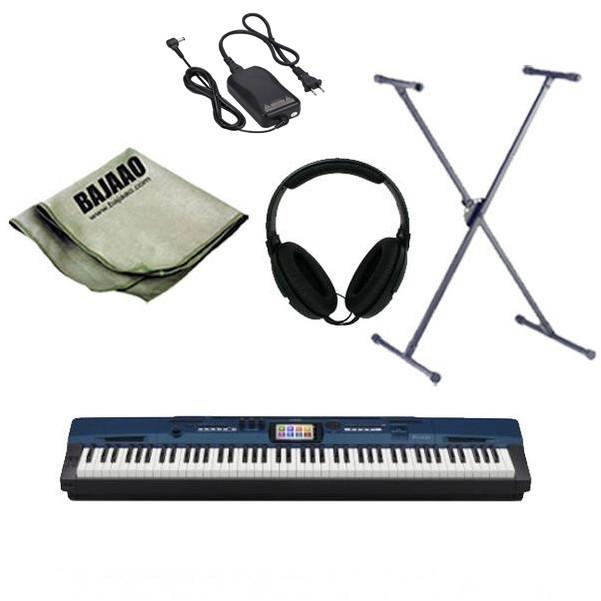 Casio Privia Pro PX-560 MBE Arranger Piano with Stand, Headphones, Polishing Cloth and Power Adapter