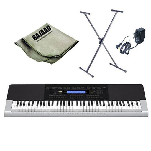 Casio WK-240 Keyboard with Stand, Polishing Cloth and Power Adapter