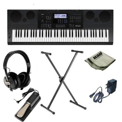 Casio WK-6600 High Grade Workstation 76-Key Keyboard With Stand, Headphones, Polishing Cloth and Power Adapter