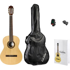 Cordoba CP100 Nylon 6-String Classical Guitar Pack with Tuner Picks and Gig Bag