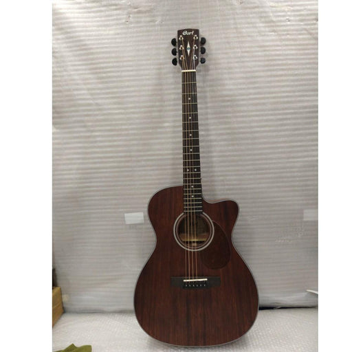 Cort AS-OC4 All Solid Mahogany Electro Acoustic Guitar With Case - Open Box B Stock