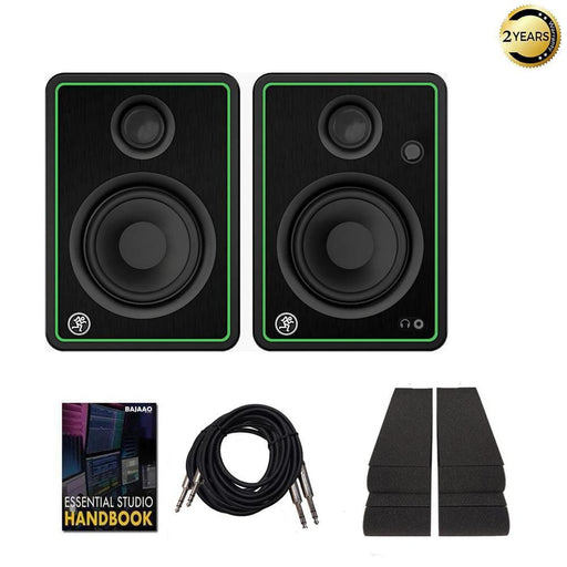 Mackie CR4 XBT Class D Studio Multimedia Monitors with Bluetooth, Isolation Foam Pads, Cables & Ebook - Pair