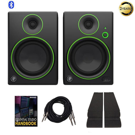 Mackie CR5BT 5 Inch Bluetooth Creative Multimedia Monitors with Isolation Pads, Cables & Ebook - Pair