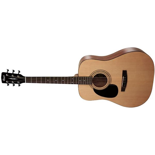 Cort AD810LH-OP Dreadnought Left Handed Acoustic Guitar - Open Pore