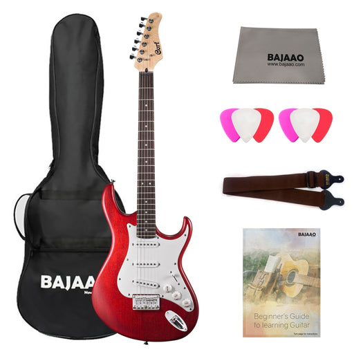 Cort G100 Electric Guitar Bundle with Gigbag, Cloth, Picks, Strap & Ebook