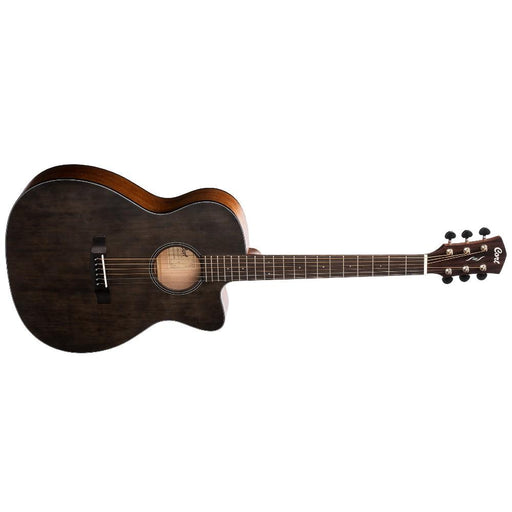 Cort Core OC Spruce 6-Strings Electro Acoustic Guitar With Bag- Open Pore Trans Black