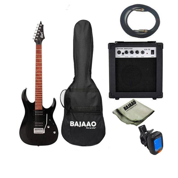Cort X100 6-String Electric Guitar Bundle with Amplifier, Tuner, Cable and Polishing Cloth