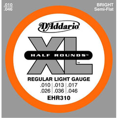 DAddario EHR310 Half Rounds Regular Light Electric Guitar Strings