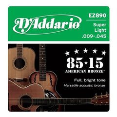 DAddario EZ890 Bronze Superlight Acoustic Guitar Strings