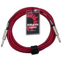 DiMarzio EP1710SSRD 10 Foot Braided Instrument Cable Red