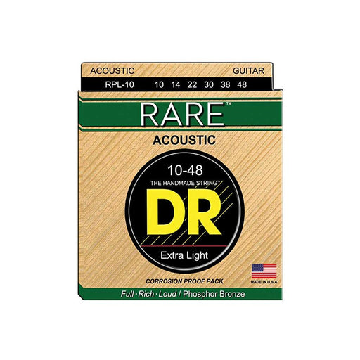 DR Strings RPL-10 Rare Phosphor Bronze Extra Light Acoustic Guitar Strings - 10 - 48