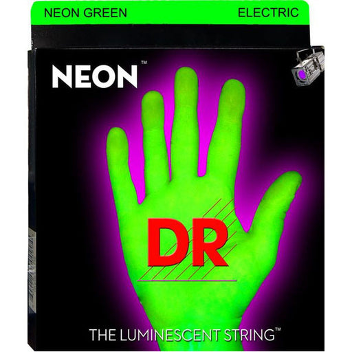 DR Strings NGE-9/46 NEON HiDef Green SuperStrings Light Top Heavy Bottom Electric Guitar Strings