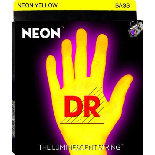 DR Strings NYB-45 NEON HiDef Yellow Bass SuperStrings Medium 4-String