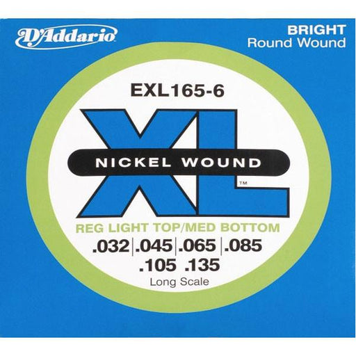 D'Addario EXL165-6 XL Nickel 6-String .032-.135 Bass String Set