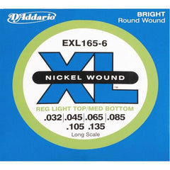 D'Addario EXL165-6 Bass String Set, XL Nickel .032-.135