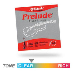 D'Addario Prelude J810 Medium Violin String Set
