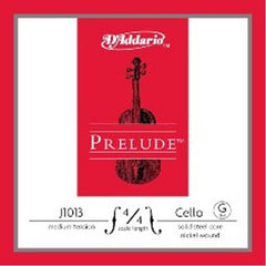 D'Addario Prelude-G Medium-Set J1013 4/4M Cello Strings