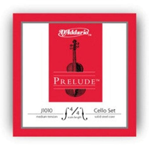 D'Addario Prelude Medium-Set J1010 4/4M Cello Strings