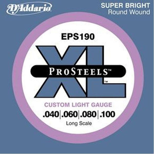 D'Addario ProSteels EPS190 Custom Light Long Scale Bass Strings